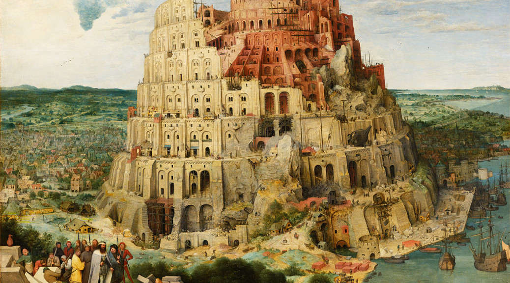 Tower of Babel: allegory for language