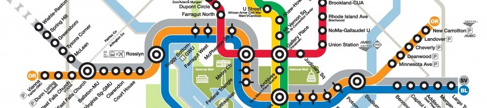 WMATA (Washington DC Metro) map: new Silver Line