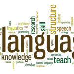 Language and linguistics keywords word cloud